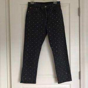 Levi's Jeans - Levi's studded back wash 501 jeans